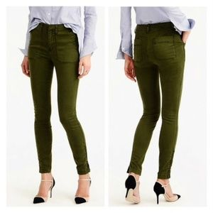 J.Crew Skinny Stretch Green Cargo Pants size 31